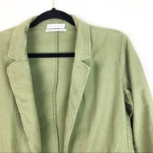 Urban Outfitters Olive Open Blazer